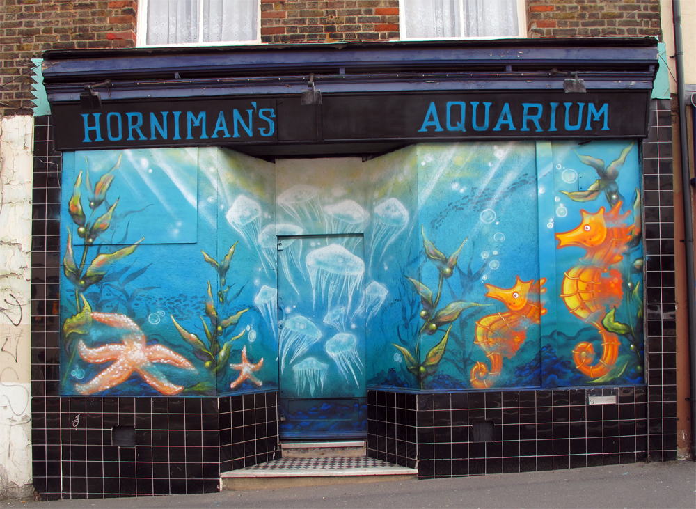 Forest hill aquarium art london graffiti mural artist for Aquarium mural